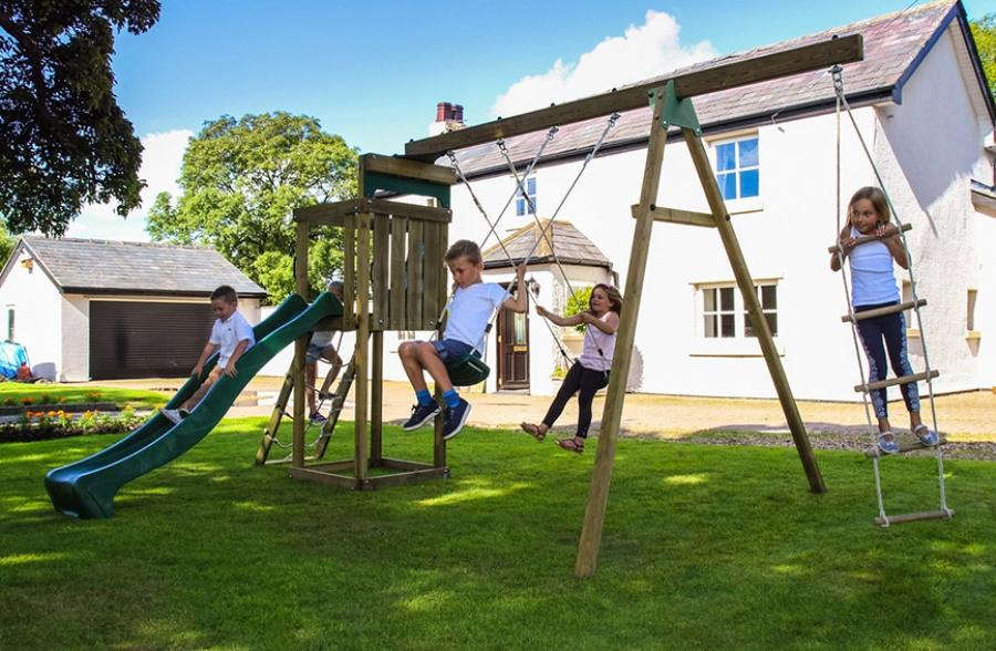 Sky Child\'s Climbing Frame | Wooden Climbing Frames UK